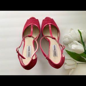 Steve Madden Pink High Heel Shoes Size 7.5